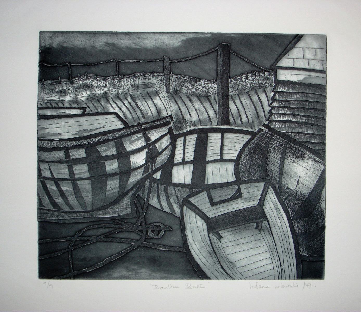 Bauline-Boats-etching-300-x-350, by the artist Helena Orlowski