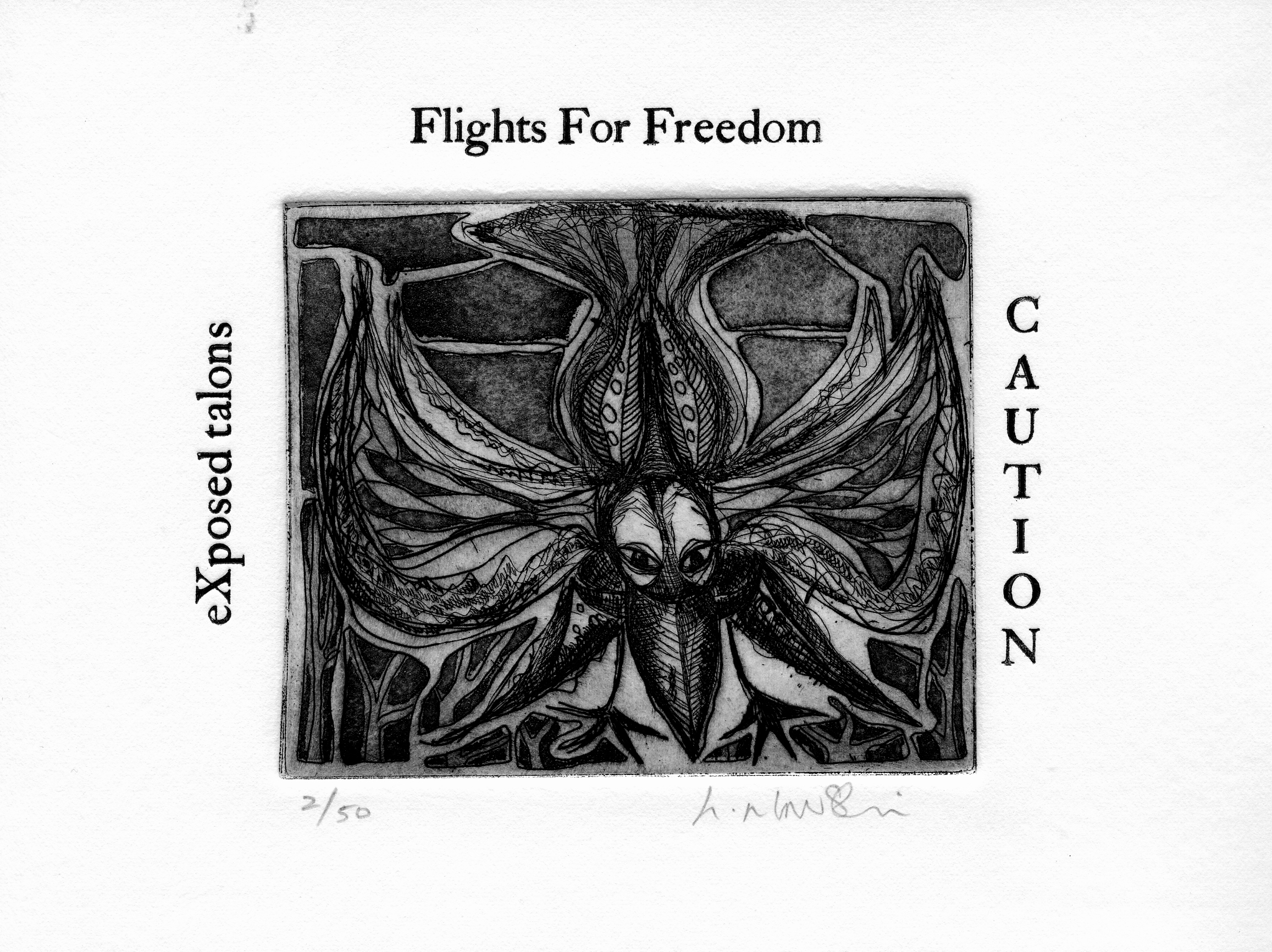 Flights-for-Freedom_-intaglio-and-typeset-limited-edition, by the artist Helena Orlowski