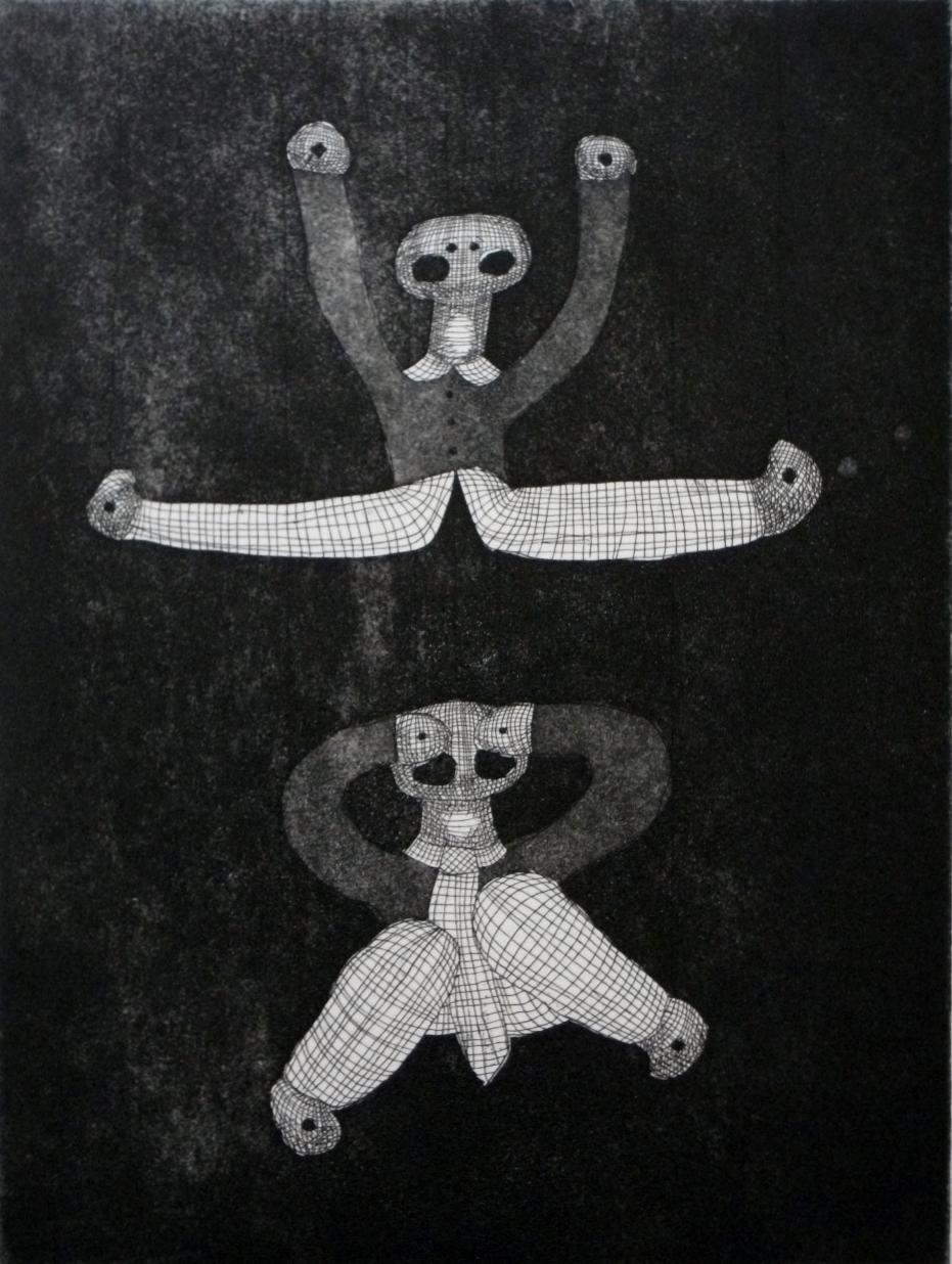 Janek_s-Toys-II-etching-300-x-230, by the artist Helena Orlowski