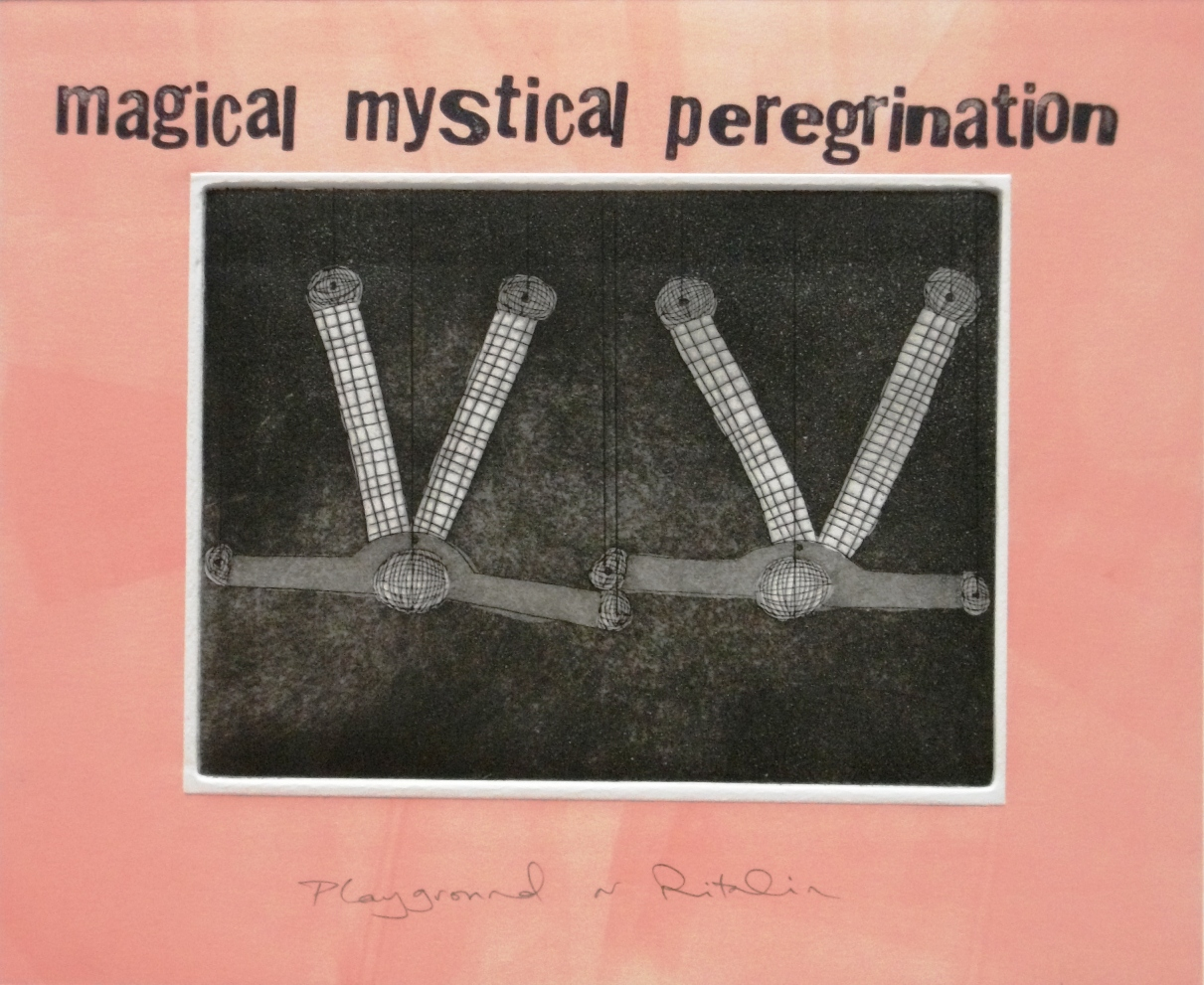 Magical-Mystical-Peregrination-etching-relief-and-block-letters-245-x-295, by the artist Helena Orlowski