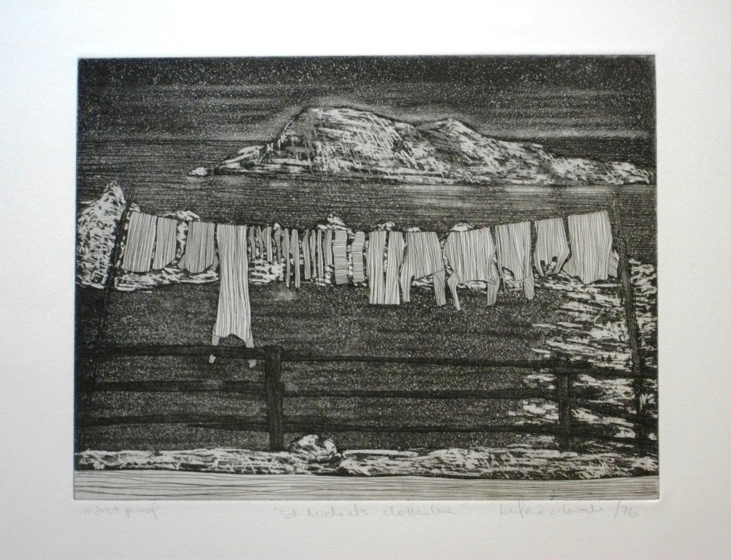 St.-Michael_s-Clothesline-etching-225-x-295, by the artist Helena Orlowski