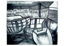 Bauline Boats, etching, 300 x 350.jpg