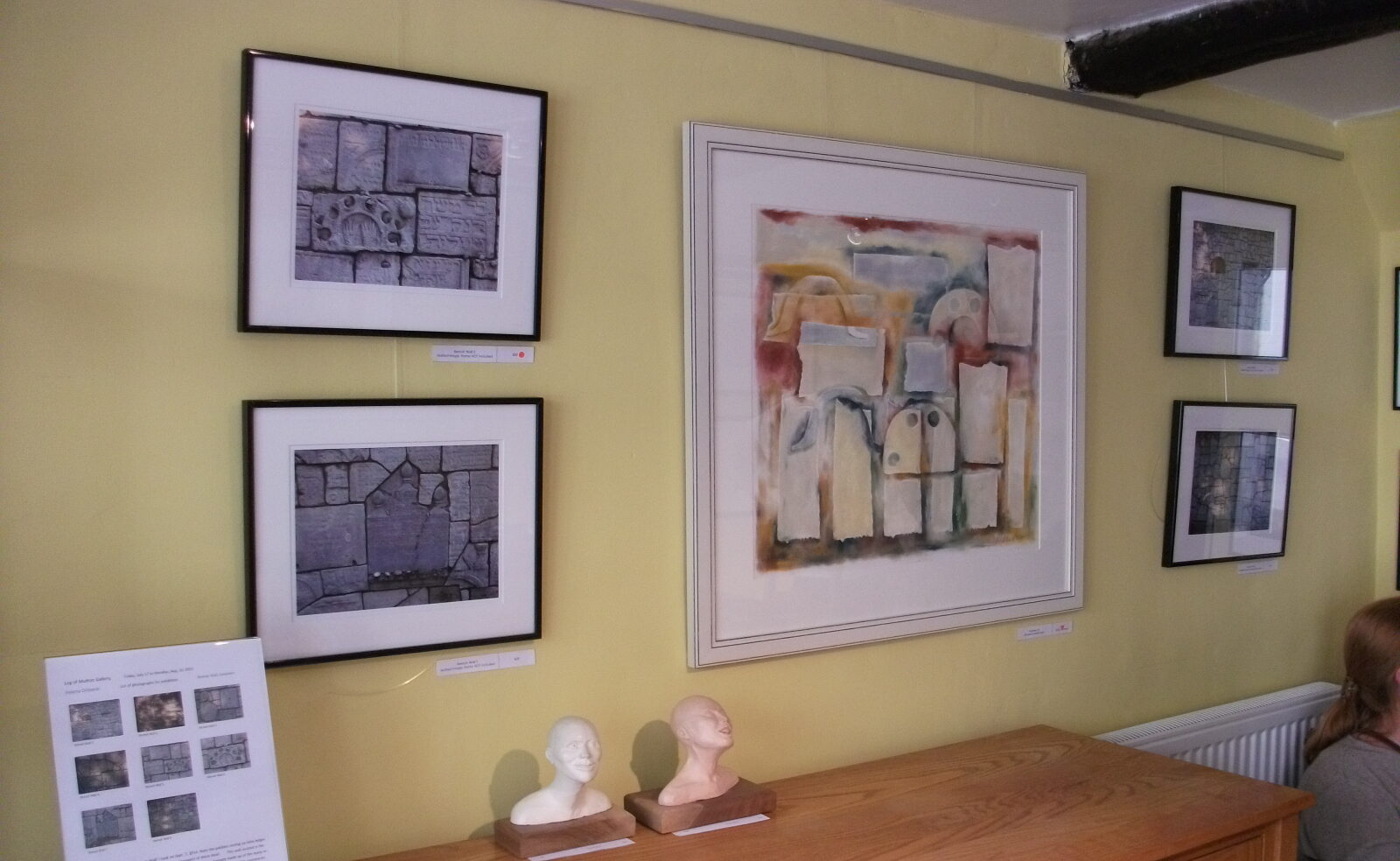 Artwork hanging at Leg of Mutton exhibitions