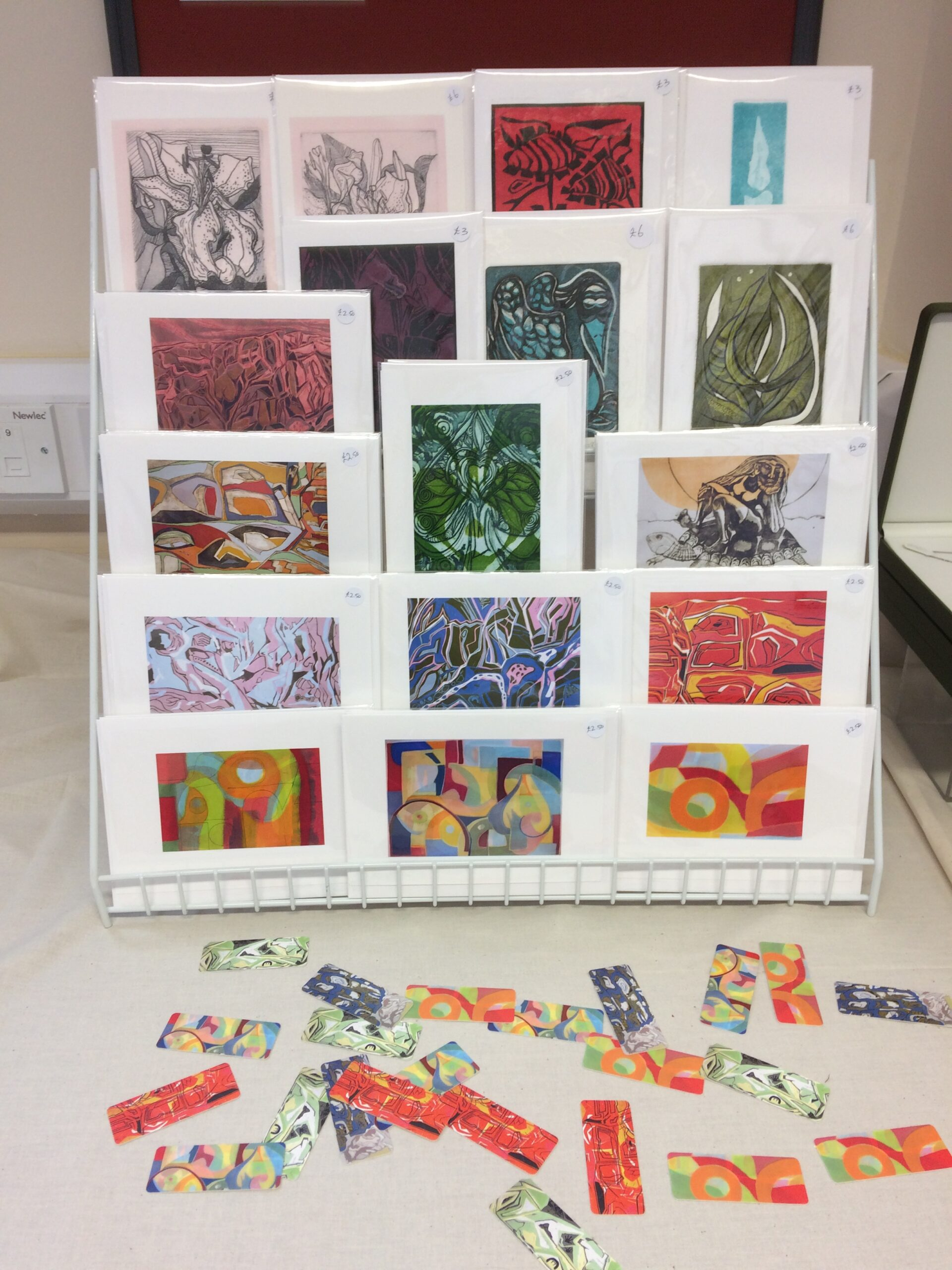 Selection of cards at exhibition