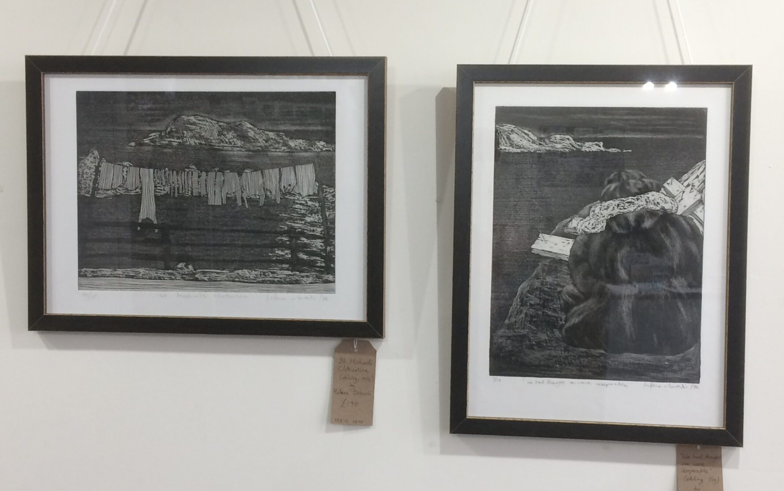 Artwork hanging at Made In The Marches 2 exhibition