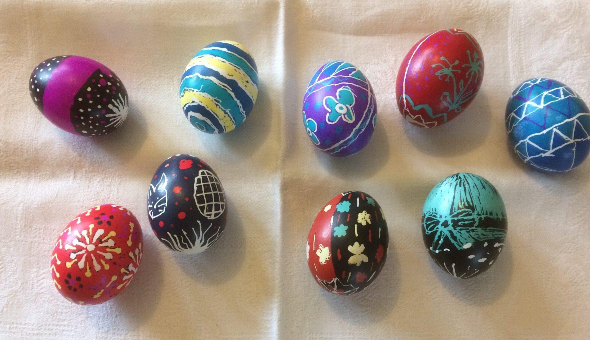 Pysanky workshops eggs