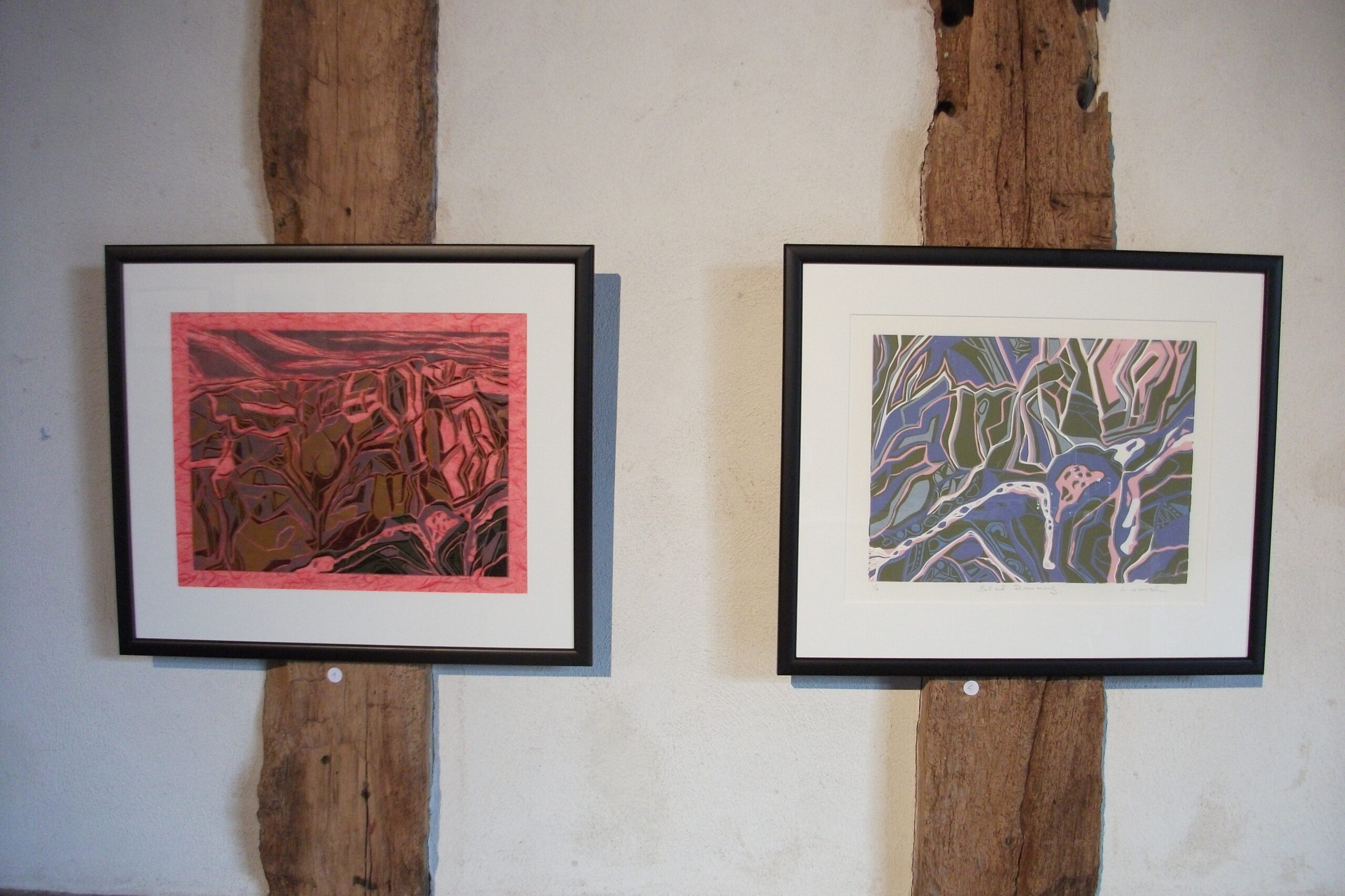 Artwork hanging at Hellens exhibition, h.Art. 2013